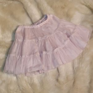 Girls Pink tiered tulle skirt 5T